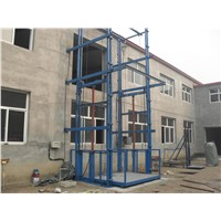 Electric Hydraulic Guide Rail Chain Lift Platform
