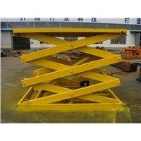 Stationary Scissor Cargo Lift Table SJG2-3.4