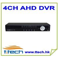 4CH 720P Realtime AHD DVR support 2*4TB SATA HDD,4CH audio, 1CH alarm