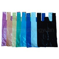 HDPE Plain Plastic T-Shirt Retail Shopping bag/Retail grocery bag/Vest carrier bag