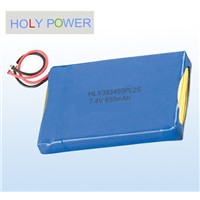 Polymer battery 7.4V 650mAh HLY-383450PL2S