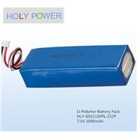 Polymer battery 7.4V 3000mAh HLY-6032100PL-2S2P