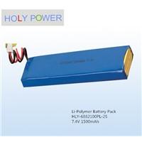 Polymer battery 7.4V 1500mAh HLY-6032100PL-2S