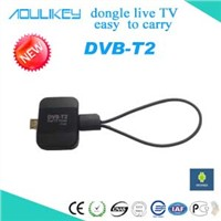 Pad tv tuner,DVB-T2 HD digital tv receiver antenna,easy to carry for android devices!