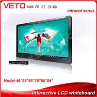 46 inch LCD custom magnetic whiteboard /interactive equipmentwith IR touch screen
