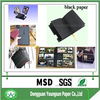 wood pulp black board made shopping bags
