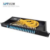 16-channel rack mount CWDM dual optical fiber mux/demux