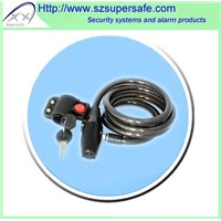 Bike alarm cable lock