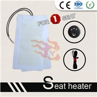 Low pressure carbon fiber seat heater pads with new round switch for universal cars