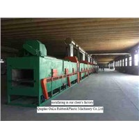 Elastomeric rubber closed cell for insulation of heating and sanitary pipe production line
