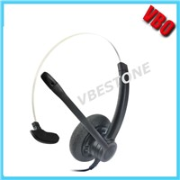 New call center telephone headphone with noise cancellation microphone
