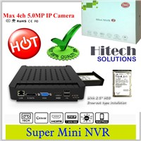 4/9/16Ch Mini NVR Network Video Recorder with 5MP/3MP/1080P & ONVIF 2.0 Above IP Camera Compatible