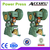 J23 series eccentric mechanical metal plate power punch machine
