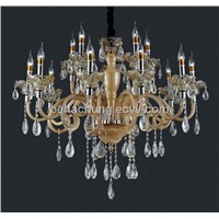 Low price hall ceiling 18 arms led crystal chandelier lamp