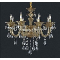 Low price wholesale decorative 6 arms led crystal chandelier