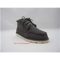 Sheepskin wool-one lacing snow boots for men