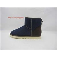 Sheepskin wool-one, jean snow boots for men
