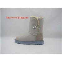 Sheepskin wool-one, acrylic crystal buckle snow boots