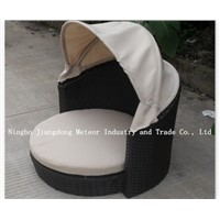 MTC-086 outdoor wicker pet bed with canopy