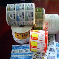wholesale laminated lucky sticker rolls cute design scrapbook sticker self adhesive label paper
