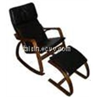 Walnut plywood Rocking Chair & Foot Stool/Bend wood arm chair/relax chair