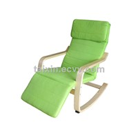 Bend wood relax rocking chair with footstool/living room chair