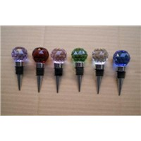 glass crystal wine bottle stopper