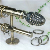 2014 elegant high quality metal curtain rod