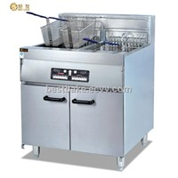 Vertical computer fryer with 2-tank&4-basket BY-DF36