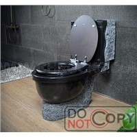 Shanxi Black Granite Toilet,Stone Toilet,Black Granite Toilet