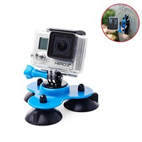 Hot Car Triangle Suction Cup + Tripod Mount + Screws for Gopro Hero 2 3 3+ 4 OS143