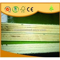 green plastic faced plywood