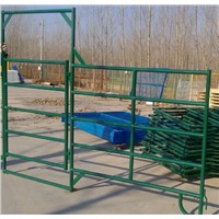 "TUBULAR GALVANIZED CORRAL PANELS Built for rough use 1-3/4""  19 gauge tubular  steel panels"