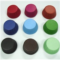 Wholesale and retail greaseproof Plain Color cupcake liner paper Bakery baking cup muffin case