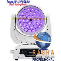 Factory Price White Case 36pcs*15W 6in1 RGBAW LED Zoom Moving Head Wash With Touch Screen,DMX 512
