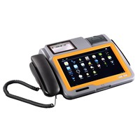 10.1 inch android barcode pos terminal with thermal printer and barcode reader