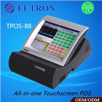 All-in-one touch screen pos system with 10.4 inch touch screen for retail,food service