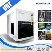 Possible air cooled light weight movable 2d 3d glass images engraver