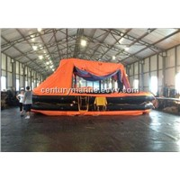 SOLAS approved self-righting 25 person inflatable life raft