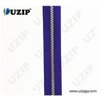"4.5 "" 5# Gold teeth metal zipper with pearl decoration slider"
