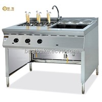 Free standing gas convection pasta cooker with bain marie BY-GH1176