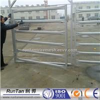 high quality 5 rails welded tubular ranch fence panel durable galvanized livestock handling panels