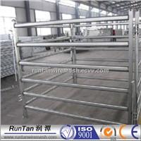 Oval rail panel welded tubular corral panel fence 6 bar livestock farm fence