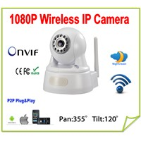 P2P full HD 1080p wireless ip camera wifi 2.0 MegaPixel HD Pan/Tilt IP Camera