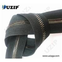 8# nickel metal zipper with 2 ways and 2 sliders