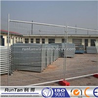 2100mm high Hot Dipped Galvanized Temporary Fence with PLASTIC BASE FEET