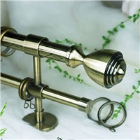 European style double curtain rod