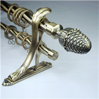 2014 fancy window double twist curtain rod