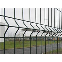 Dark Green Triangle Bend Wire Mesh Fence(factory)3d curved bending mesh fence