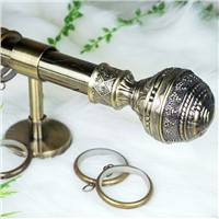 Round ball bronze window curtain rod